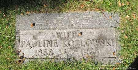 KOZLOWSKI, PAULINE - Lucas County, Ohio | PAULINE KOZLOWSKI - Ohio Gravestone Photos