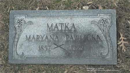 PAWLICKA, MARYANA - Lucas County, Ohio | MARYANA PAWLICKA - Ohio Gravestone Photos