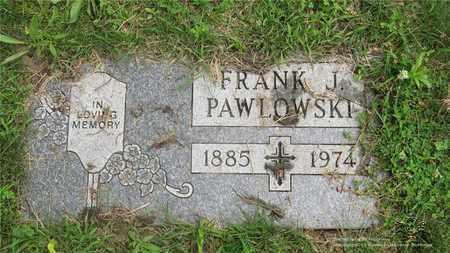 PAWLOWSKI, FRANK J. - Lucas County, Ohio | FRANK J. PAWLOWSKI - Ohio Gravestone Photos