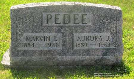 PEDEE, MARVIN I. - Lucas County, Ohio | MARVIN I. PEDEE - Ohio Gravestone Photos