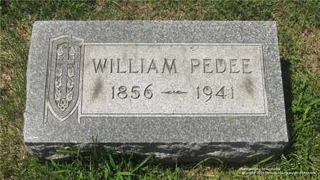 PEDEE, WILLIAM - Lucas County, Ohio | WILLIAM PEDEE - Ohio Gravestone Photos