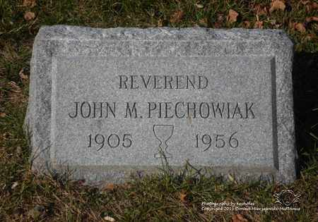 PIECHOWIAK, JOHN M. - Lucas County, Ohio | JOHN M. PIECHOWIAK - Ohio Gravestone Photos
