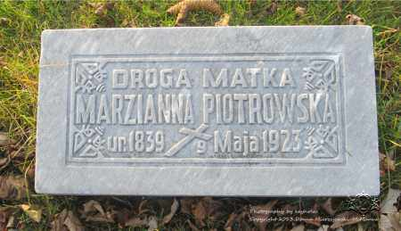 PIOTROWSKA, MARIANNA - Lucas County, Ohio | MARIANNA PIOTROWSKA - Ohio Gravestone Photos