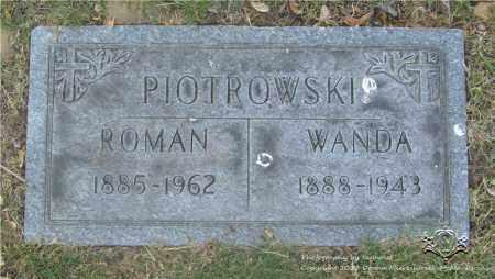 PIOTROWSKI, WANDA - Lucas County, Ohio | WANDA PIOTROWSKI - Ohio Gravestone Photos