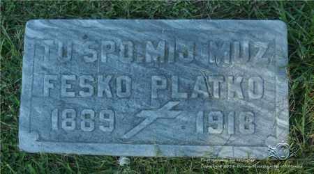 PLATKO, FESKO - Lucas County, Ohio | FESKO PLATKO - Ohio Gravestone Photos