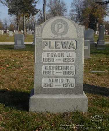 PLEWA, FRANK J. - Lucas County, Ohio | FRANK J. PLEWA - Ohio Gravestone Photos