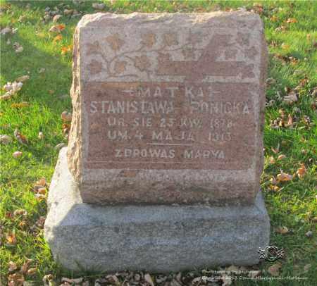 PONICKA, STANISLAWA - Lucas County, Ohio | STANISLAWA PONICKA - Ohio Gravestone Photos
