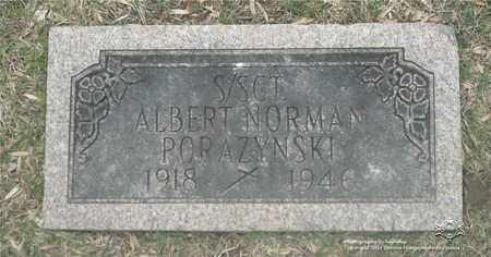 PORAZYNSKI, ALBERT NORMAN - Lucas County, Ohio | ALBERT NORMAN PORAZYNSKI - Ohio Gravestone Photos