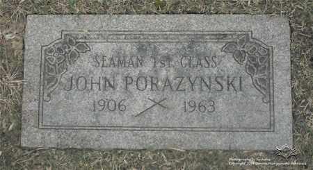 PORAZYNSKI, JOHN - Lucas County, Ohio | JOHN PORAZYNSKI - Ohio Gravestone Photos