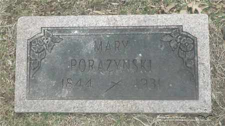 HOPPE PORAZYNSKI, MARY - Lucas County, Ohio | MARY HOPPE PORAZYNSKI - Ohio Gravestone Photos