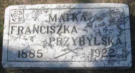 PRZYBYLSKA, FRANCISZKA (FRANCES) - Lucas County, Ohio | FRANCISZKA (FRANCES) PRZYBYLSKA - Ohio Gravestone Photos