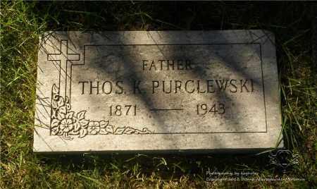 PURCLEWSKI, THOMAS - Lucas County, Ohio | THOMAS PURCLEWSKI - Ohio Gravestone Photos