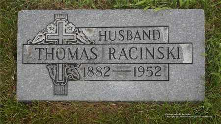 RACINSKI, THOMAS - Lucas County, Ohio | THOMAS RACINSKI - Ohio Gravestone Photos