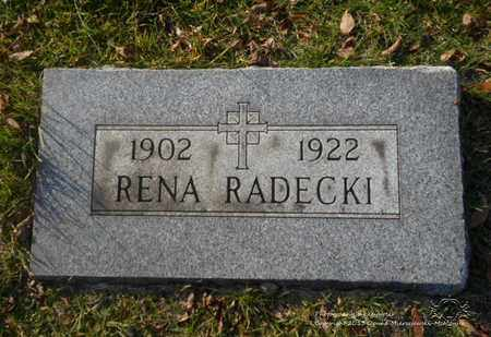 RADECKI, RENA - Lucas County, Ohio | RENA RADECKI - Ohio Gravestone Photos