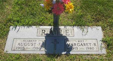 RAHE, AUGUST F. - Lucas County, Ohio | AUGUST F. RAHE - Ohio Gravestone Photos