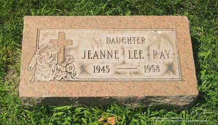RAY, JEANNE LEE - Lucas County, Ohio | JEANNE LEE RAY - Ohio Gravestone Photos