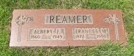 REAMER, ALBERT F. - Lucas County, Ohio | ALBERT F. REAMER - Ohio Gravestone Photos