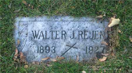 REJENT, WALTER J. - Lucas County, Ohio | WALTER J. REJENT - Ohio Gravestone Photos