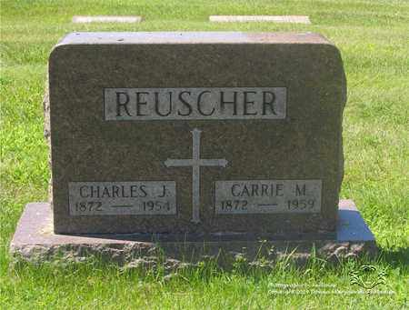 REUSCHER, CARRIE M. - Lucas County, Ohio | CARRIE M. REUSCHER - Ohio Gravestone Photos