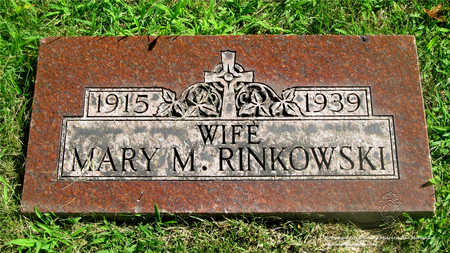 RINKOWSKI, MARY M. - Lucas County, Ohio | MARY M. RINKOWSKI - Ohio Gravestone Photos
