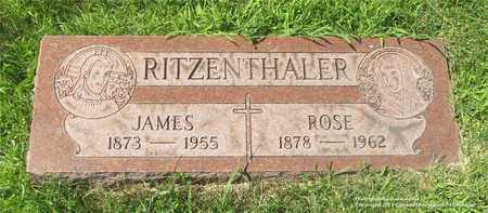 RITZENTHALER, JAMES - Lucas County, Ohio | JAMES RITZENTHALER - Ohio Gravestone Photos