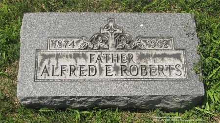 ROBERTS, ALFRED E. - Lucas County, Ohio | ALFRED E. ROBERTS - Ohio Gravestone Photos
