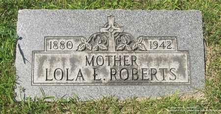 ROBERTS, LOLA L. - Lucas County, Ohio | LOLA L. ROBERTS - Ohio Gravestone Photos