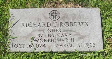 ROBERTS, RICHARD J. - Lucas County, Ohio | RICHARD J. ROBERTS - Ohio Gravestone Photos