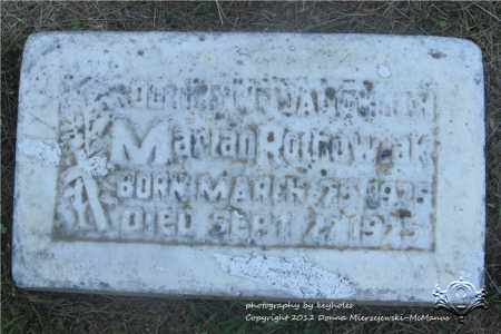 ROCHOWIAK, MARIAN - Lucas County, Ohio | MARIAN ROCHOWIAK - Ohio Gravestone Photos