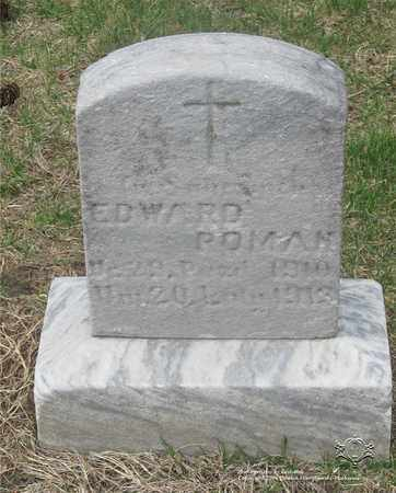 ROMAN, EDWARD - Lucas County, Ohio | EDWARD ROMAN - Ohio Gravestone Photos