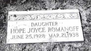 ROMANOFF, HOPE - Lucas County, Ohio | HOPE ROMANOFF - Ohio Gravestone Photos