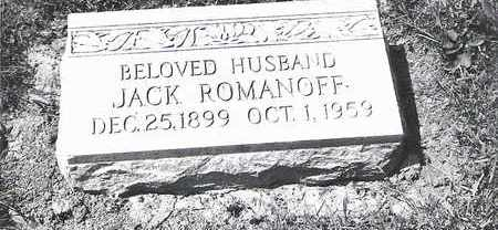 ROMANOFF, JACK - Lucas County, Ohio | JACK ROMANOFF - Ohio Gravestone Photos