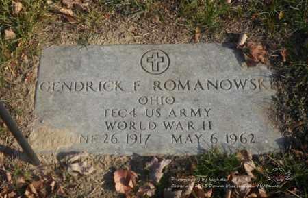 "ROMANOWSKI, GENDRICK F. ""GENE"" - Lucas County, Ohio | GENDRICK F. ""GENE"" ROMANOWSKI - Ohio Gravestone Photos"