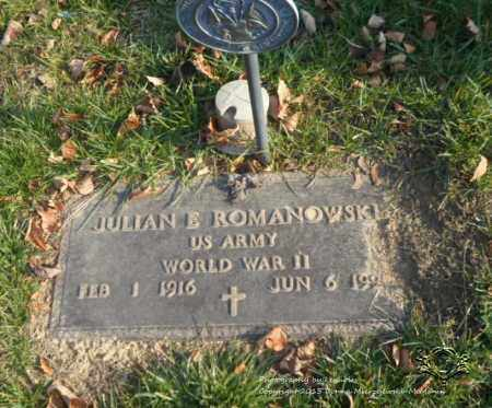 ROMANOWSKI, JULIAN E. - Lucas County, Ohio | JULIAN E. ROMANOWSKI - Ohio Gravestone Photos