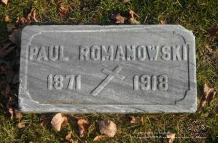 ROMANOWSKI, PAUL - Lucas County, Ohio | PAUL ROMANOWSKI - Ohio Gravestone Photos