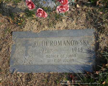 ROMANOWSKI, RUTH - Lucas County, Ohio | RUTH ROMANOWSKI - Ohio Gravestone Photos