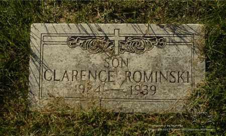 ROMINSKI, CLARENCE - Lucas County, Ohio | CLARENCE ROMINSKI - Ohio Gravestone Photos