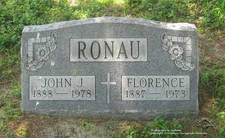 RONAU, JOHN J. - Lucas County, Ohio | JOHN J. RONAU - Ohio Gravestone Photos