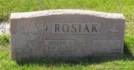 ROSIAK, JOSEPH A. - Lucas County, Ohio | JOSEPH A. ROSIAK - Ohio Gravestone Photos