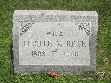 ROTH, LUCILLE M. - Lucas County, Ohio | LUCILLE M. ROTH - Ohio Gravestone Photos