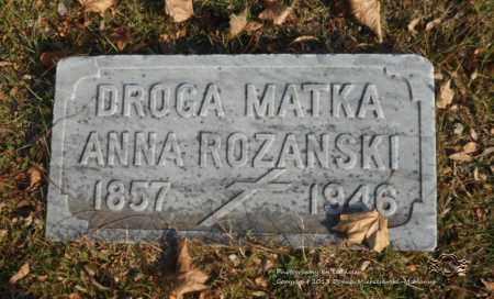 ROZANSKI, ANNA - Lucas County, Ohio | ANNA ROZANSKI - Ohio Gravestone Photos