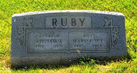 RUBY, MARY ALICE - Lucas County, Ohio | MARY ALICE RUBY - Ohio Gravestone Photos