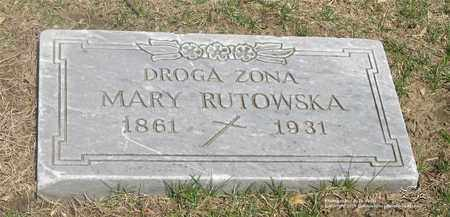 RUTKOWSKA, MARY - Lucas County, Ohio | MARY RUTKOWSKA - Ohio Gravestone Photos