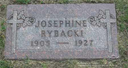 RYBACKI, JOSEPHINE - Lucas County, Ohio | JOSEPHINE RYBACKI - Ohio Gravestone Photos