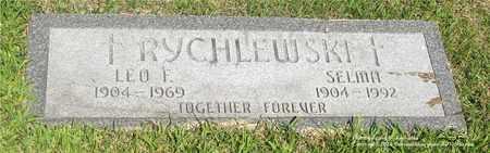 RYCHLEWSKI, LEO F. - Lucas County, Ohio | LEO F. RYCHLEWSKI - Ohio Gravestone Photos