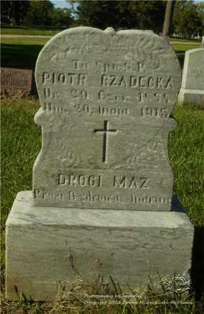 RZADECKA, PIOTR - Lucas County, Ohio | PIOTR RZADECKA - Ohio Gravestone Photos