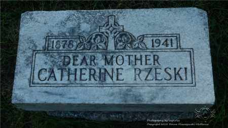 RZESKI, CATHERINE - Lucas County, Ohio | CATHERINE RZESKI - Ohio Gravestone Photos