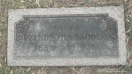 SADOSKI, FRANCISZKA - Lucas County, Ohio | FRANCISZKA SADOSKI - Ohio Gravestone Photos