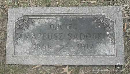 SADOSKI, MATEUSZ - Lucas County, Ohio | MATEUSZ SADOSKI - Ohio Gravestone Photos