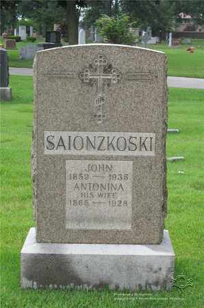 SAIONZKOSKI, ANTONINA - Lucas County, Ohio | ANTONINA SAIONZKOSKI - Ohio Gravestone Photos